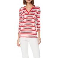 BRAX Damen Style Claire Linen Multistripes Leinenshirt Gestreift Bluse Bekleidung