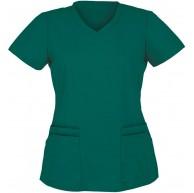 Damen Kurzärmeliges Pflegeoberteil V-Ausschnitt Tiermotiv Drucken Medizinische Kurzarm Berufsbekleidung Lässiges Tops T-Shirts Tuniken Blusen Bekleidung