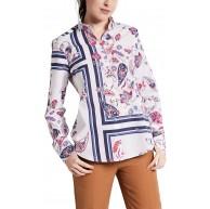 eterna Langarm Bluse Modern Classic Bedruckt Bekleidung