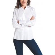 eterna Langarm Bluse Modern Classic unifarben Bekleidung