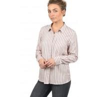 Jacqueline de Yong Mia Damen Lange Bluse Hemdbluse Langarm mit Streifen-Muster Bekleidung