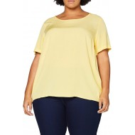ONLY Carmakoma Damen Carvis Ss Top Solid Shirt Bekleidung