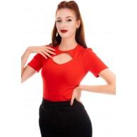 Ro Rox Eva Vintage Pinup Rockabilly 50er Jahre Bluse Retro Formelles Oberteil Bekleidung