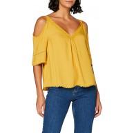 Springfield Damen 5.pc.top Offshoulder-c 04 Bluse Gelb Yellow 4 34 Herstellergröße 36 Bekleidung