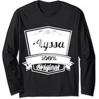Alyssa Geschenk Alyssa personalisierter Name Geburtstag Langarmshirt Bekleidung