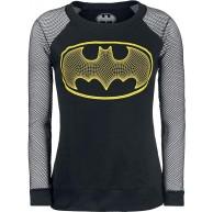Batman 3-D Frauen Langarmshirt schwarz DC Comics Fan-Merch Film Superhelden TV-Serien Bekleidung