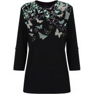 FINN-FLARE Damen Langarmshirt mit modernem Rundhalsausschnitt Bekleidung