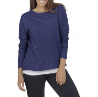 Fruit of the Loom Damen Essentials in Transit Long Sleeve French Terry Top Hemd Bekleidung