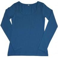 Leela Cotton Damen Langarm-Shirt Bio-Baumwolle Petrol XL Bekleidung