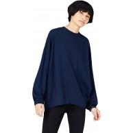 -Marke find. Damen Langärmeliges T-Shirt mit rundem Ausschnitt Bekleidung
