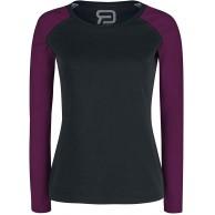RED by EMP Long Raglan Road Frauen Langarmshirt schwarz Purple Basics Nachhaltigkeit Streetwear Bekleidung