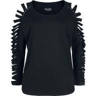 Rock Rebel by EMP schwarzes Langarmshirt mit Cut-Outs Frauen Langarmshirt schwarz Basics Bekleidung