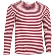 Russisch Langarmshirt - roten Streifen Bekleidung