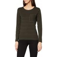 Scotch & Soda Damen Langärmliges Baumwoll-top mit Bretonstreifen T-Shirt Bekleidung