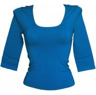 SENSI' Langarmshirt Damen 3 4 Arm Oberteil U-Ausschnitt Nahtlos Mikrofaser Made in Italy Bekleidung