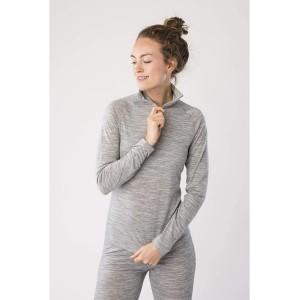 super.natural Damen Langarm-Shirt Mit Merinowolle W BASE 1 4 ZIP 175 Bekleidung