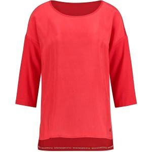 Taifun Damen 3 4 Arm Shirt mit Material-Mix leger Bekleidung