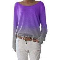YFASHION Damen Langarmshirts Lose Bluse Hemd Shirt Oversize Sweatshirt Oberteil Tops Bekleidung