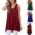JUTOO Damen Sommer ärmellose Weste drucken V-Ausschnitt T-Shirt Tunika Tops Bluse Shirts Bekleidung
