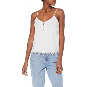 VILA CLOTHES Damen Viboudoiri Strap Top Weiß Cloud Dancer 36 Herstellergröße S Bekleidung