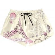 BONIPE Damen Badehose Vintage Retro Paris Eiffelturm Fahrrad Quick Dry Surf Beach Board Shorts mit Kordelzug und Taschen S Gr. L mehrfarbig Bekleidung