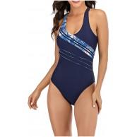 Gybify Damen Sportlicher Einteiler Badeanzug Racer Back Damen Sport Badeanzug Schwimmanzug Badeanzug Push Up figurformend Bauchweg Bekleidung