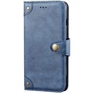 Hülle Kompatibel mit Samsung Galaxy S20 Ultra Kartenschlitz Flip handyhülle Slim fit PU Leder Schnappen Scratchproof schutzhülle Lightweight Brieftasche Anti-Drop Ledertasche mit Ständer Blau Bekleidung