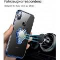 iPhone X XR XSmax Hülle Silikon Hülle Ultra Dünn TPU Bumper Case 360 Grad Ring Stand Magnetische Autohalterung Schutzhülle für Transparent Anti-Fingerabdruck Anti-Kratzer Blau iPhoneXS Bekleidung