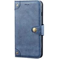 Kompatibel mit Samsung Galaxy S20 Hülle Slim fit PU Leder Kartenschlitz handyhülle Ultra dünn rutschfeste Schnappen Ständer Flip Ledertasche mit Lightweight Bankkarte Brieftasche Case Blau Bekleidung