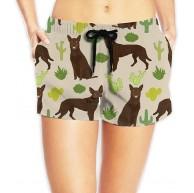 LLOOP Cactus S Kaktus Hunde-Strand-Badehose für Damen Bekleidung