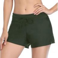 Summer Mae Damen-Badeanzug Shorts seitlicher Schlitz verstellbar für den Strand Bauchkontrolle Badehose Bekleidung