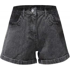 Vectry Damen Jeans Shorts Sommer Freizeithose High Waist Denim Pants Wide Leg Casual Kurz Stretch Hotpants Sexy Bequeme Kurz Hosen mit Taschen Bekleidung