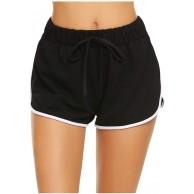 Vectry Damen Sportshort Kurz Leggings Shorts Kordelzug Freizeithosen Fitnesshose Sporthose Laufhose Gummiband Kurze Hose Stretch Wide Leg Hot Pants Bekleidung