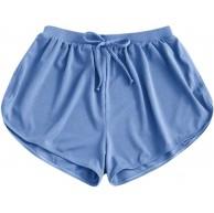 Winkey Damen Sport Shorts Atmungsaktive Sporthose für Beach Swimming Fitness Bikini Bottom Bekleidung