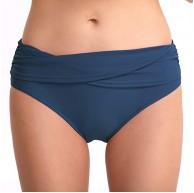 XuCesfs Badehose für Damen einfarbig sexy Hüftfalte mittlere Taille Farbe Blau Größe S Bekleidung