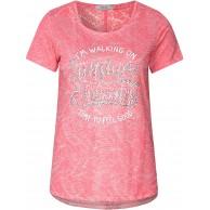 CECIL Damen 313510 T-Shirt per pack Mehrfarbig neo coralline red 31664 Large HerstellergrößeL Bekleidung