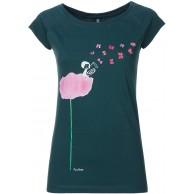 FellHerz Damen T-Shirt Tubamädchen Petrol Bio Fair Bekleidung
