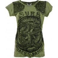 GURU SHOP Sure T-Shirt OM Damen Baumwolle Bedrucktes Shirt Alternative Bekleidung Bekleidung