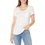 -Marke Goodthreads Damen fashion-t-shirts Linen Modal Jersey V-neck Short-sleeve T-shirt Bekleidung