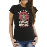 Neverless® Damen T-Shirt Hattori Hanzo Sword and Sushi Okinawa Japan Schriftzeichen Fashion Streetstyle Bekleidung