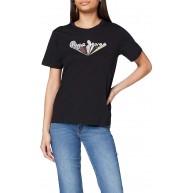 Pepe Jeans Damen Black T-Shirt Bekleidung