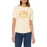 Scotch & Soda Damen AMS Blauw Easy Tee with Various Artworks T-Shirt Bekleidung