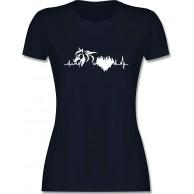 Shirtracer - Pferde - Pferd mit Herzschlag - Tailliertes Tshirt für Damen und Frauen T-Shirt Shirtracer Bekleidung