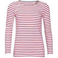 Sols Damen Marine T-Shirt gestreift langärmlig XL Weiß Rot Bekleidung