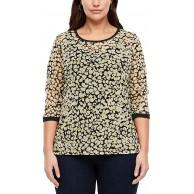 TRIANGLE Damen Materialmix-Shirt mit Satin TRIANGLE Bekleidung
