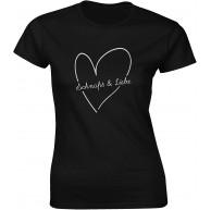 Unterstation - Schnaps und Liebe t Shirt Hipster Damen Fun Casual Style Design Herren Tshirt Prime Quality S-2XL Bekleidung