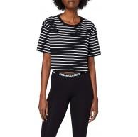 Urban Classics Damen Ladies Short Striped Oversized Tee T-Shirt Bekleidung