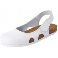 CLINIC DRESS Riemchenschuh für Damen seitlicher Klettverschluss Glattleder lederbezogenes Korkfußbett Eva-Laufsohle Komfortschuh Schuhe & Handtaschen