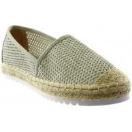 Angkorly - Damen Schuhe Espadrilles - Slip-On - Flexible - Perforiert - Seil - Pastell Flache Ferse 2 cm Schuhe & Handtaschen