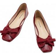 C.PARAVANO Damen Ballerinas Rot I Ballerinas Rot I Pumps Rot I Lackschuhe Damen I Ballerina Schuhe Damen I Slipper Rot GRÖSSE 38 Rot Schuhe & Handtaschen